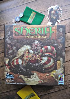 Sheriff of Nottingham board game. A game of bluffing and deception, so fun to play with family!