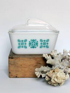 Vintage Glasbake Refrigerator Dish and Lid