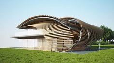 Павильон из деревянных реек от Kengo Kuma (Интернет-журнал ETODAY)