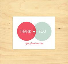 Printable Thank You Card - Venn Diagram