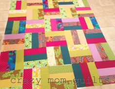crazy mom quilts: bohemian garden quilt top