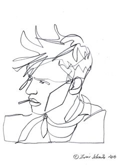 """Gaze 482″, continuous line drawing by Boris Schmitz"