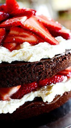 Chocolate Strawberry Nutella Cake ~ Recipe by The Pioneer Woman