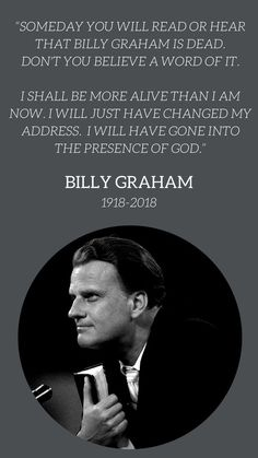 Founded by Billy Graham, BGEA is a Christian non-profit organization that exists to proclaim the Gospel of Jesus Christ by every effective means and to equip others to do the same. Billy Graham Quotes, Rev Billy Graham, Billy Graham Family, Christian Life, Christian Quotes, Faith Quotes, Bible Quotes, Great Quotes, Inspirational Quotes