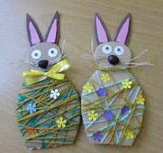 If you are planning to spend some great time with your kids this Easter then try out these easy unique Easter craft ideas. Have real fun and paint Easter eggs in a unique manner! Easter Arts And Crafts, Spring Crafts, Easter Activities, Craft Activities For Kids, Craft Ideas, Crafts To Do, Paper Crafts, Craft Projects For Adults, Diy For Kids