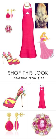 """""""Princess Aurora"""" by andyarana ❤ liked on Polyvore featuring Charlotte Olympia, Posh Girl, Epoque and WALL"""