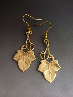 Ivy earrings 2 - wore these (in silver) at my wedding