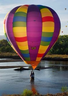Hot Air Balloon in the water