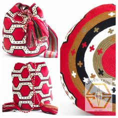 Pink and white mochila bag. The average bag takes 20-30 days to hand weave. All bags are Handmade. Wayuu people are use bight different colors and patterns to tell the story of the weaver. These are all one-of-kind bags. Wayuu tribe bags are $75.00-$ 260.00.They are woven with cotton thread. A nice beach bag or farmer bag that is very sturdy. www.wayuutribe.com #mochila #bohochic