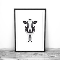 A personal favorite from my Etsy shop https://www.etsy.com/ca/listing/492307516/geometric-animal-wall-art-cow