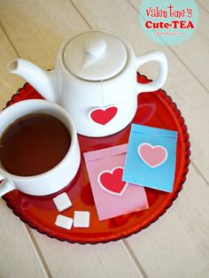 Bird's Party Blog: Valentine's Day Cute-TEA + FREE Printables