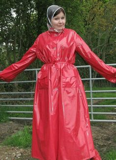 Raincoats For Women Closet Product Pink Raincoat, Raincoat Jacket, Plastic Raincoat, Plastic Pants, Parka, Imper Pvc, Rain Bonnet, Bronze, Raincoats For Women