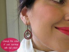 DIY - Super quick earring revamp |Makeup and Macaroons