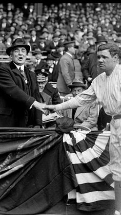 President Warren Harding Shaking Hands With Babe Ruth