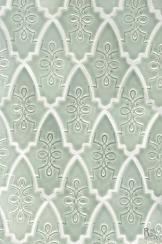 How lovely the Bardot tile looks in the very soothing Laurel Lake glaze by Red Rock Tileworks