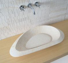 Description : Free standing washbasin Material : Limestone Galala matt finish Model : Erastone Code : ERA 7038 L Size : cm ( wgt 28 kg) Sink, Bathrooms, Free, Home Decor, Beige, Model, Products, Hipster Stuff, Marble