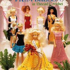 Free Barbie Crochet Dress Patterns   Fashion Doll Prom Dresses Crochet Barbie Patterns