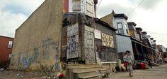 """Verlassenes Gebäude in Camden, New Jersey: """"Hart arbeiten, reich werden"""" gilt nicht mehr"""
