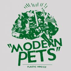 MODERN PETS - plastic mind e.p. 7inch RSR032 Plastic Animals, Mindfulness, Pets, Modern, Music, Trendy Tree