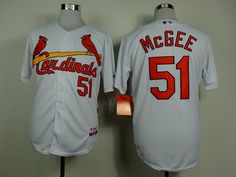 MLB Man's St. Louis Cardinals #51 Willie McGee Jersey White Throwback
