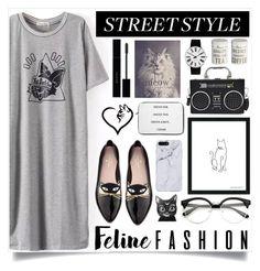 """The Cat's Meow: Feline Fashion"" by madeinmalaysia ❤ liked on Polyvore featuring Florent Bodart, Rosendahl, Kate Spade, Gucci, Mason Cash and felinefashion"