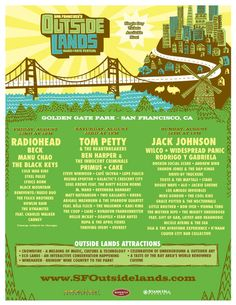 Outside Lands Poster 2008 LOVED this music fest!! I remember this one(: