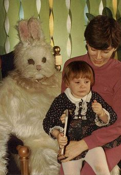 Easter Bunny's dead... But you can sit on his lap anyways.