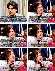 The Walking Dead Daryl Dixon Rick Grimes Norman Reedus Andrew Lincoln Walking Dead Funny, Walking Dead Zombies, Fear The Walking Dead, Daryl And Rick, Daryl Dies, Dead Man, Norman Reedus, Alter, Full House