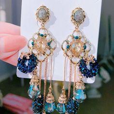 Headpiece Jewelry, Ear Jewelry, Cute Jewelry, Tassel Drop Earrings, Women's Earrings, Tassel Earing, Stylish Jewelry, Fashion Jewelry, Magical Jewelry