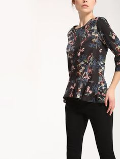 Bluzka Top Secret z kolekcji wiosna 2017 Peplum, Blouse, Long Sleeve, Sleeves, Model, Tops, Fashion, Moda, Full Sleeves