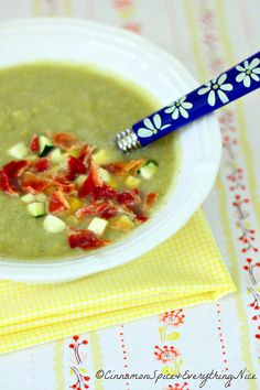 Zucchini, Corn and Bacon Chowder | Cinnamon Spice & Everything Nice