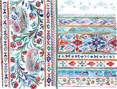 Natalia Gemma Textile Design | Sketchbook #ethnic #paisley #textiledesign