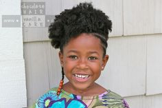 Another one!! Half Afro Up-Do (or Afro Hairstyle for the Active Girl) #Hairstyle #NaturalHair | Chocolate Hair / Vanilla Care