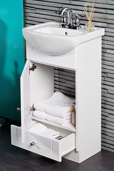 This Awesome Photo of Lovely Contemporary Small Bathroom Vanity Sets Ideas is extraordinary for your inspiration idea. Many of our visitors choose this as favourite in Bathroom Category. Small Bathroom Vanities, Bathroom Vanity Cabinets, Single Bathroom Vanity, Contemporary Small Bathrooms, Vanity Set, Powder Room, Home Improvement, Sink, Storage
