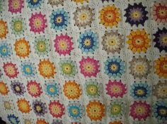 couverture SUL au crochet coton DROPS PARIS ma création