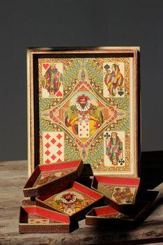 French Decorative Box Game Nain jaune. by LePasseRecompose on Etsy