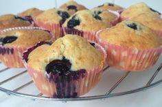 Muffins met blauwe bessen & Griekse yoghurt - Gemakkelijk recept!