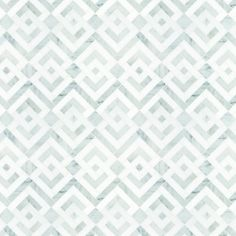 Signet Parquet Solid Mosaic tile. Signet echoes more contemporary options with open fields and repeating patterns. Motifs lean toward light-hearted and casual. With a change of background color or scale, the feel shifts from whimsical informality to restrained chic.