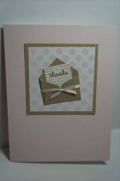 mini envelope thank you card