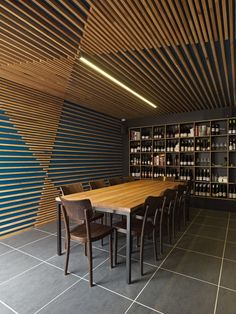 Hell of the North by SMLWRLD Wood slats acting as environmental graphic pattern