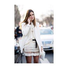 H E L L O : Unknown  #fringing#tassles#fringeskirt#whiteonwhite#creamoncream#outfit#ootd#streetstyle#fashion#fashionweek#fashioninspo#fashioninspiration#tan#longbob#ourreligionisyou