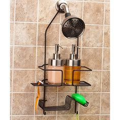 Grayline Oil Rubbed Bronze Deluxe Shower Caddy ($7.99) ❤ liked on Polyvore featuring home, bed & bath, bath, bath accessories, oil rubbed bronze bath accessories, oil rubbed bronze shower caddy, shower caddy, shower basket and oil rubbed bronze bathroom accessories