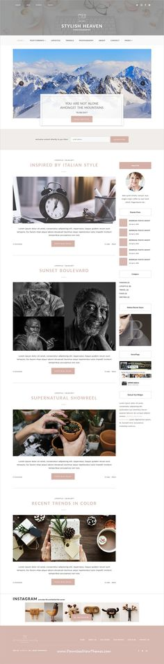Stylish Heaven is clean and modern design 3in1 responsive #bootstrap HTML template for personal #blog and #bloggers website to live preview & download click on image or Visit