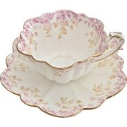 Charles Wileman teacup and saucer, Ivy patt 5042 on Empire shape, 1893
