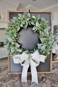 12 to 32 Lambs Ear Boxwood & Berries Grapevine Wreath. Boxwood Wreath, Greenery Wreath, Diy Wreath, Grapevine Wreath, Tulle Wreath, Holiday Wreaths, Christmas Decorations, Winter Wreaths, Décor Antique
