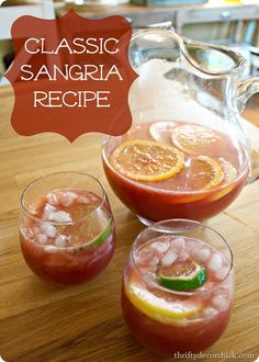 YUMMY (sweet) sangria recipe -- perfect for summer!