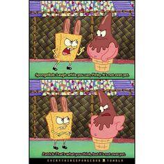 I thought spongebob had rabbit ears on...lol!