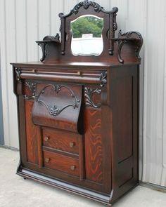 rare antique furniture | ... 1900 - 1910 RARE OAK LARKIN FURNITURE ANTIQUE MURPHY BED OLD FINISH