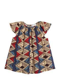 STELLA JEAN PRINTED COTTON POPLIN DRESS