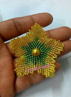 3D beaded flower